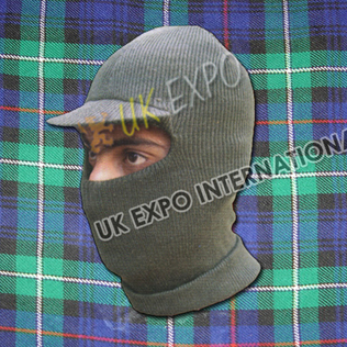 Balaclava Cap Color Green
