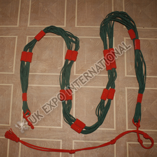 Belt Scarf Red and Darker Green Cavalry hussard Barrel Sash
