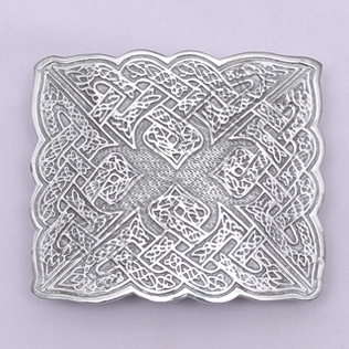 Bird Celtic Chrome Kilt Belt Buckle