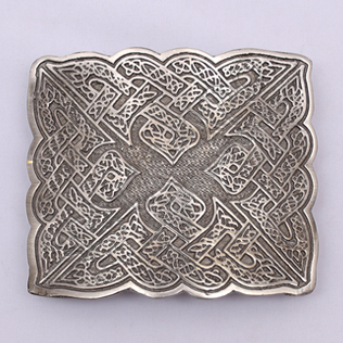 Bird Celtic Shiny Antique Kilt Belt Buckle