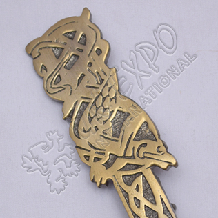 Bird Brass Antique Kilt Pin
