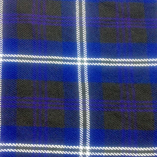 Black,Blue and White Color Tartan No 70