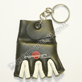 Black and White Color Glove Key Chain