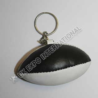 Black and White Color Rugbhy Key Chain