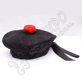Black Balmoral Hat Plain