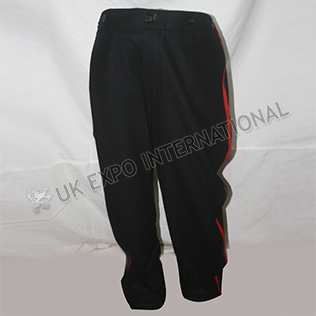 Black Civil War Trouser with Red Strip left and right