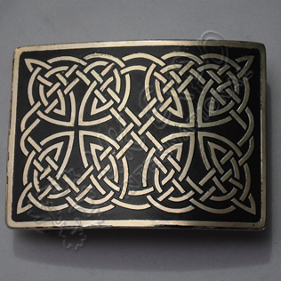 Black Color filled Harik Antique Celtic Scottish Kilt Buckle