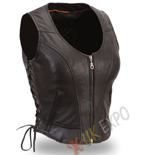 Black Color Ladies Vest