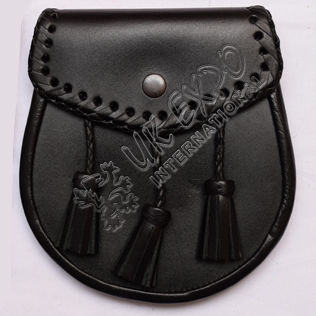 Black Color Leather Sporran