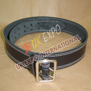 Black Color Leather Utiltiy kilt Belt With Double pin Lock Buckle