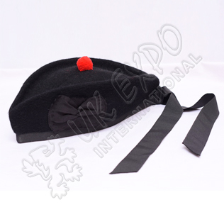 Black Glengarry Hat Plain