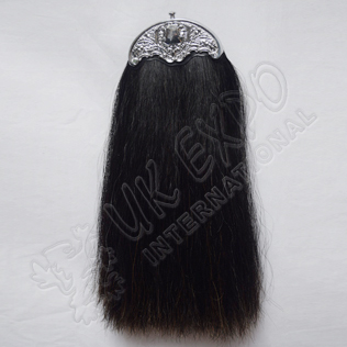 Black Horse Hair Sporran without Tessels