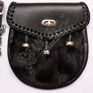 Black Leater and Black fur with Black Lock