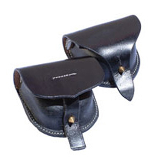 Black Leather Cap Pouches