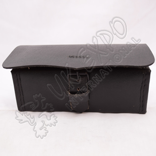 Black Leather Cartridge Box