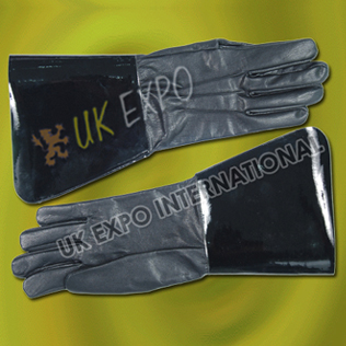 Black Leather Drum Major Gloves
