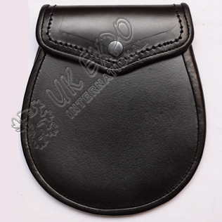 Black Leather Sporran