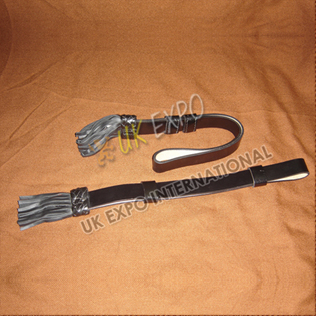Black Leather Sword Knot