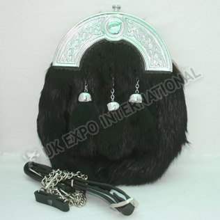 Black Rabbit fur Sporran