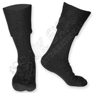 Diamond Cuff Men Black Scottish Highland Wear Kilt Hose Socks