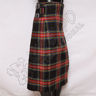 Black Stewart Tartan Ladies Long Skirts