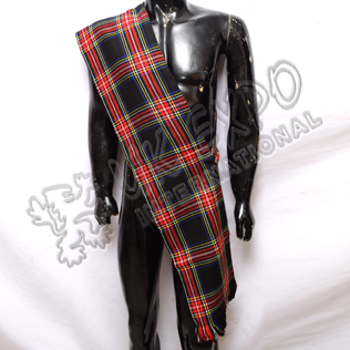 Black Stewart Tartan Ladies Sash