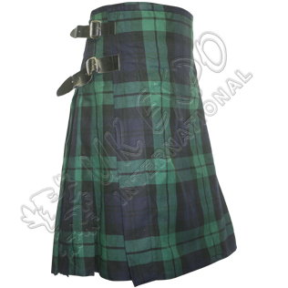 Black Watch Long Straps Sports Style Kilt
