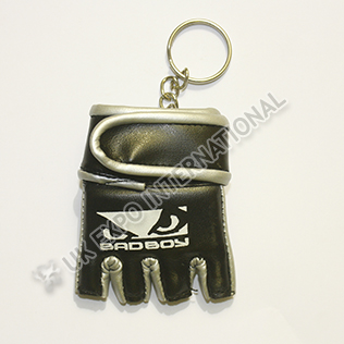 Black with Silver Color Glove Key Chain