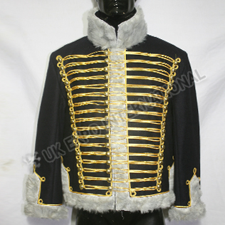 Black wool Prussian Hussar Pelisse Jacket
