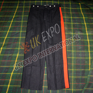 Black Wool Trouser with Red Strip