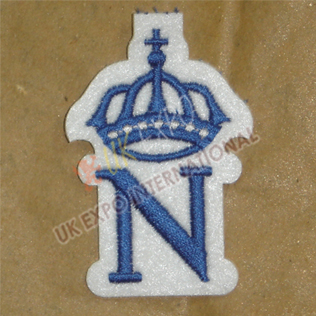 Blazer Badge Machine Embroidery Blue Color