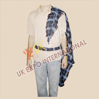 Blue and Black Tartan Fly Plaid