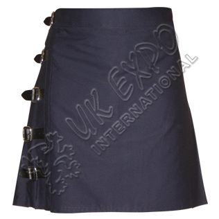 Blue Cotton Utility Kilt