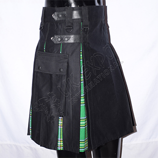 Box Pleat Hybrid Sports Kilts Modern Cargo Style Utility Kilt