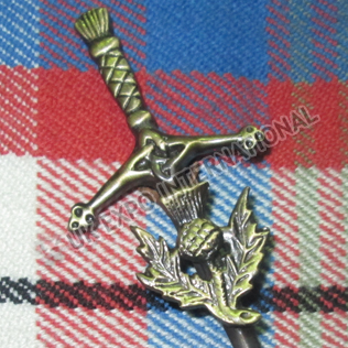 Brass Antique Clan tree Kilt Pin