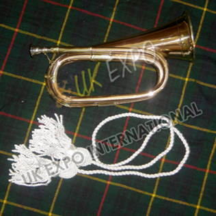 Brass Bugle with Silk Cord