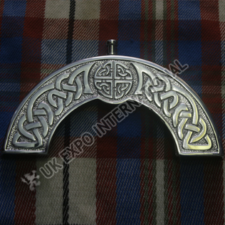 Brass chromed Celtic Embossed and Knot work cantle
