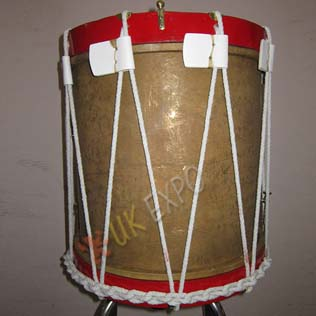 Brass Drum Shell with White rob and leather lace