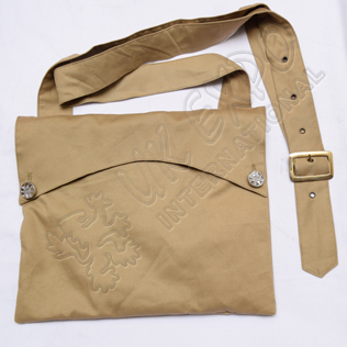 Bread Bag Khaki Tan Color Cotton