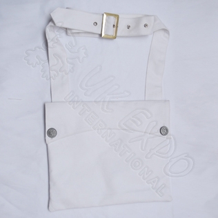 Bread Bag White Color With 21st Peweter buttons
