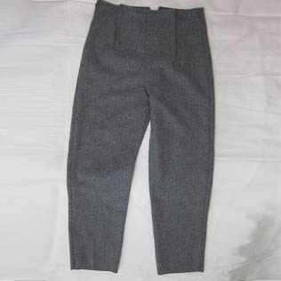 Breeches Short Gray Wool Trouser