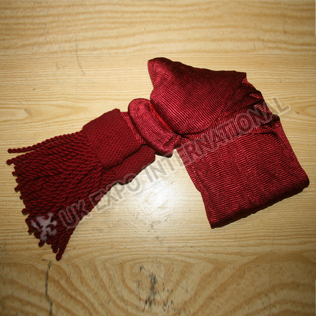 British Officers Barrel Netted Sash Maroon Color Silk