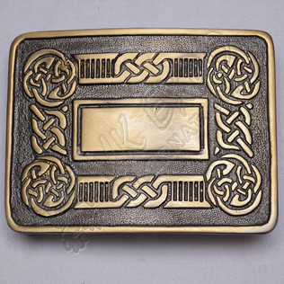 Bronze Celtic Scottish Buckle