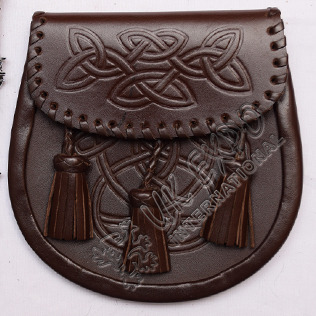 Brown Color Leather Sporran