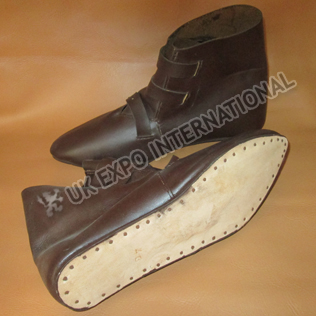 Brown Jorvik Viking Shoe SCA Leather
