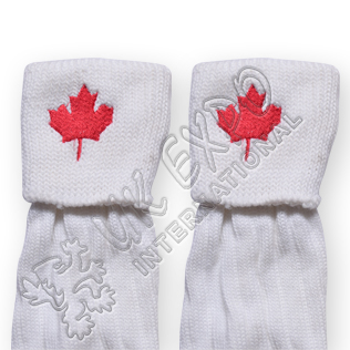 Canadian Flag Embroidery on Kilt Socks