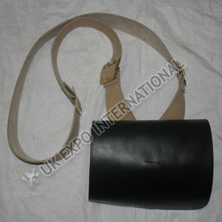 Cartridge Box with Natural Leather belt attached