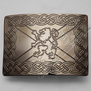 Celtic Antique Rampart lion Scottish Buckle
