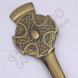 Celtic Cross Design Brass Antique Kilt Pin