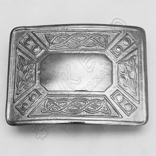 Celtic Design Chrome Buckle